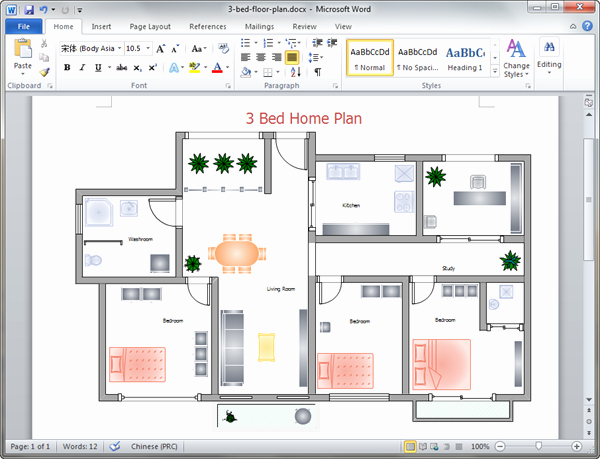 Powerpoint Floor Plan Template Luxury Home Plan Templates for Word
