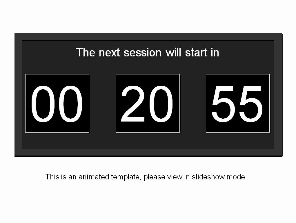 Powerpoint Timer Template Awesome Powerpoint Countdown Timer Template