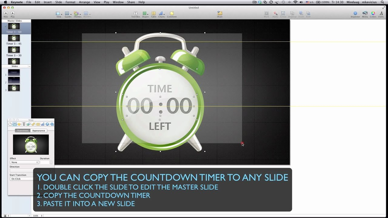 Powerpoint Timer Template Fresh Insert Countdown Timer for Keynote
