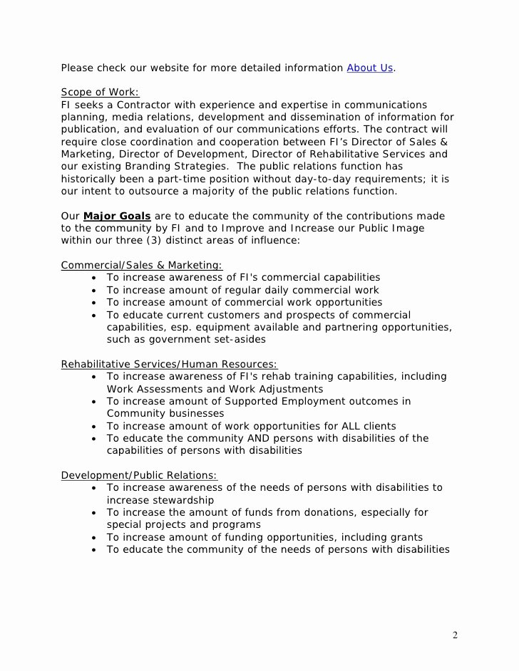 Pr Contracts Template Awesome Template Public Relations Rfp