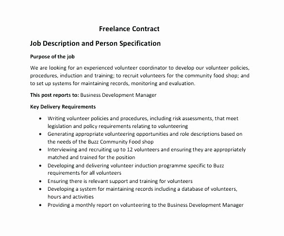 Pr Contracts Template Best Of 14 Freelance Contract Template