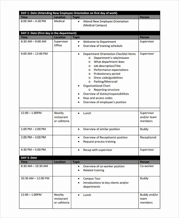 Practice Schedule Template Fresh Sample Training Schedule Template 17 Free Documents