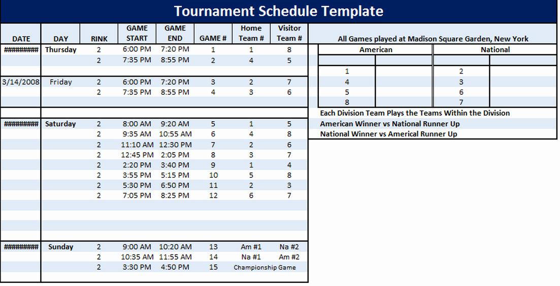 Practice Schedule Template Unique How to Create A Youth Football League Schedule Template