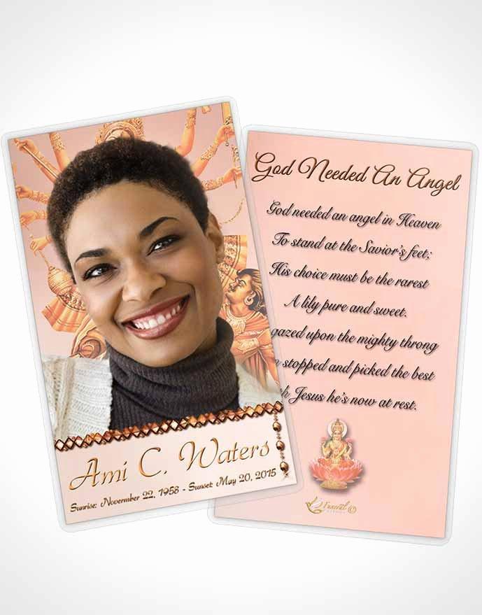 Prayer Card Template Beautiful Bifold order Of Service Obituary Template Brochure Hindu