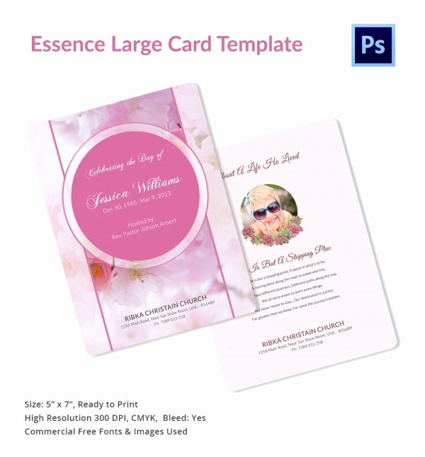 Prayer Card Template Best Of 20 Funeral Program Templates – Free Word Excel Pdf Psd