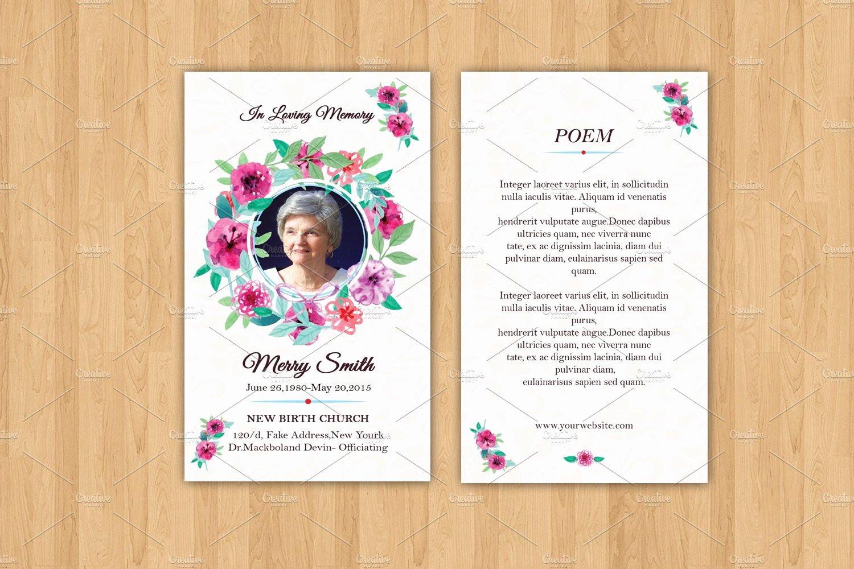 Prayer Card Template Best Of Funeral Prayer Card Template V615 Card Templates