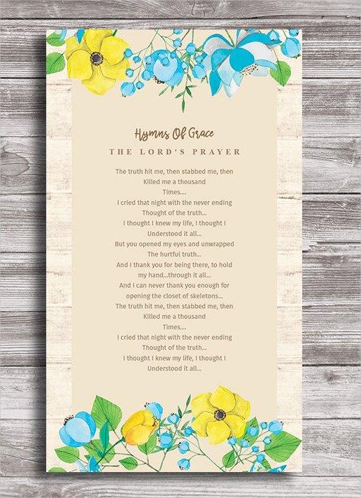 Prayer Card Template Free Beautiful 11 Funeral Card Templates Free Psd Ai Eps format