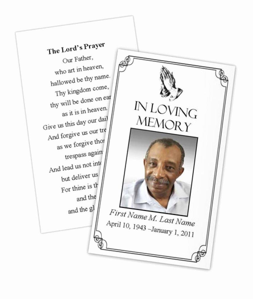 Prayer Card Template Free Beautiful Business Card Shop Template Funeral Prayer Card
