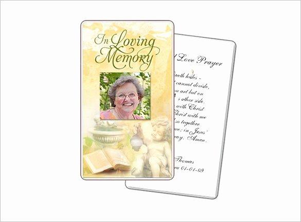 Prayer Card Template Free Elegant 16 Obituary Card Templates Free Printable Word Excel