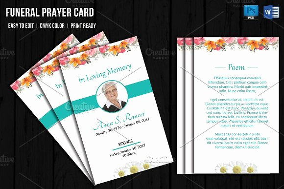 Prayer Card Template Free Fresh Funeral Prayer Card Template V656 Card Templates On