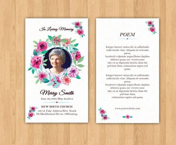 Prayer Card Template Free Luxury Funeral Prayer Card Template Editable Ms Word & Shop