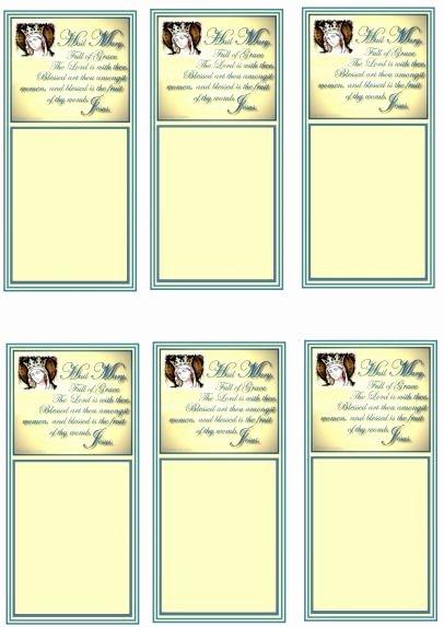 Prayer Card Template Inspirational Hail Mary Prayer Cards original Design
