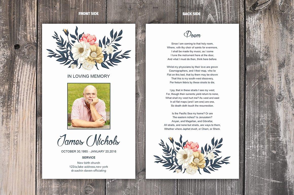 Prayer Card Template Lovely Funeral Prayer Card Template Card Templates Creative