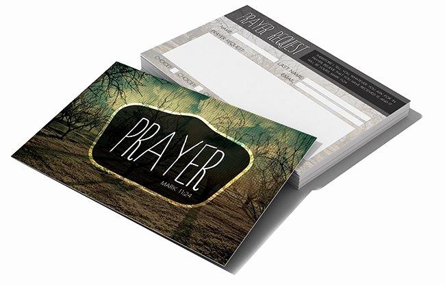 Prayer Card Template Luxury Prayer Request Card Christian Graphic Design
