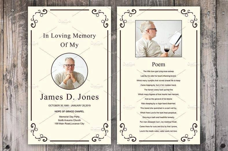 Prayer Card Template New 9 Personalized Memorial Card