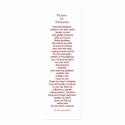 Prayer Card Template New Demeter Prayer Card Double Sided Mini Business Cards Pack