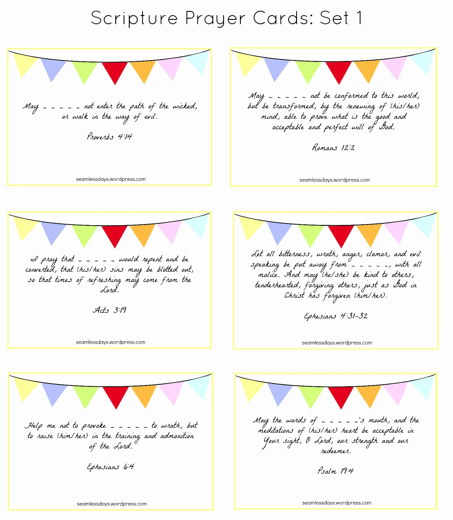 Prayer Card Templates Free Elegant Praying for Your Children A Free Printable