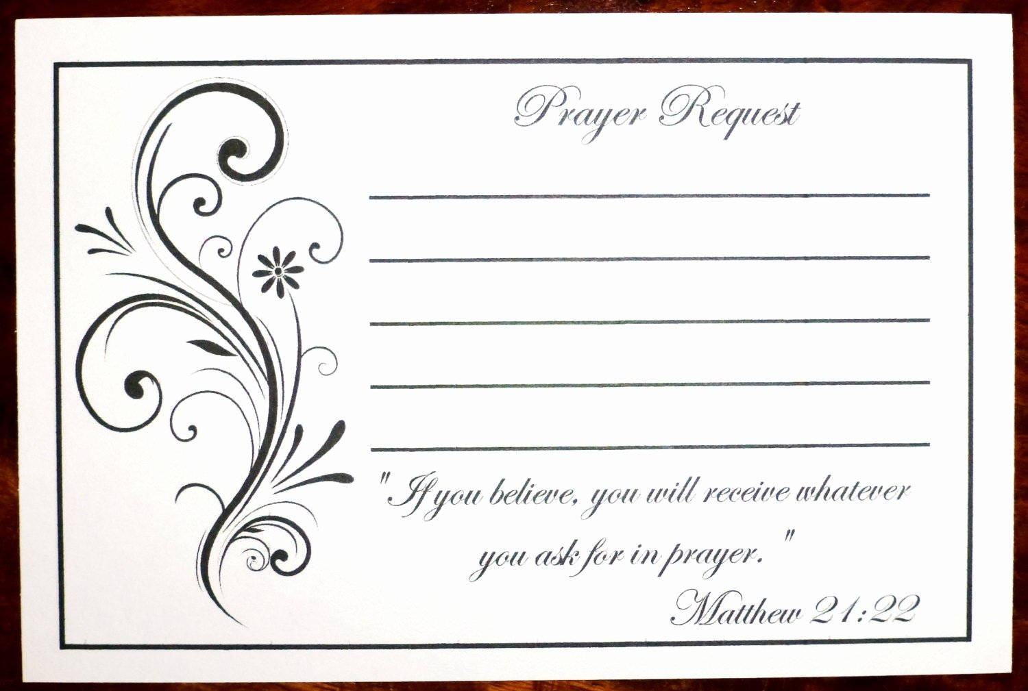 Prayer Card Templates Free Fresh Pack Of 100 Prayer Request Cards