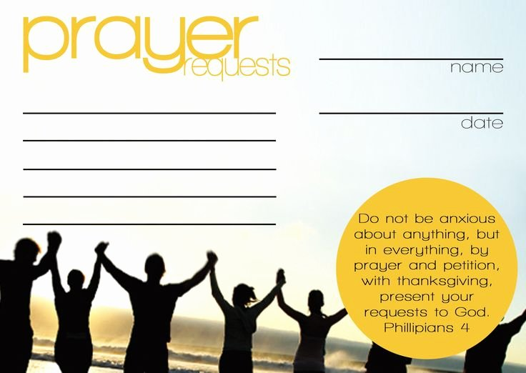 Prayer Card Templates Free Luxury Prayer Request Cards Templates