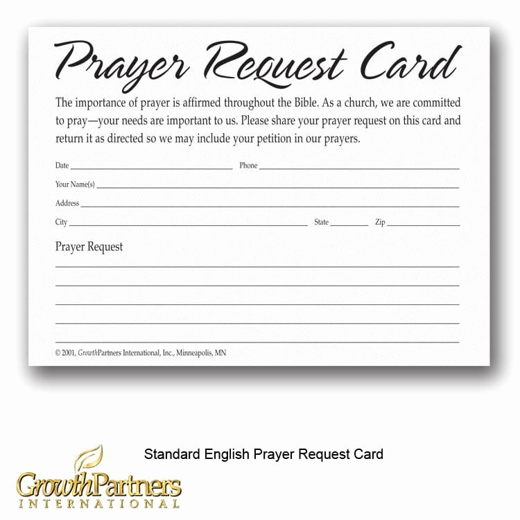 Prayer Request Cards Free Printables Awesome Prayer Request Cards Growthpartners International