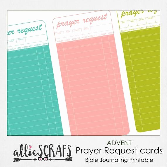 Prayer Request Cards Free Printables Best Of Advent Prayer Request Cards Printable