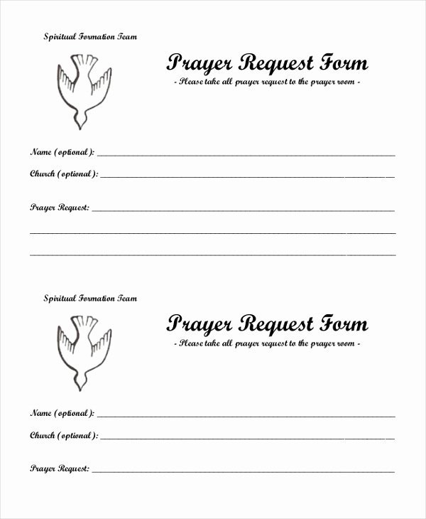 Prayer Request Cards Free Printables Best Of Sample Prayer Request form 10 Free Documents In Pdf