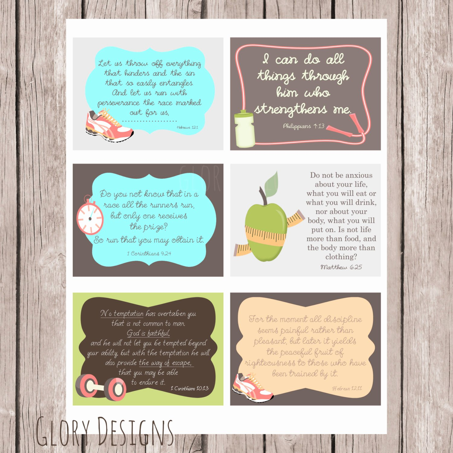 Prayer Request Cards Free Printables Elegant Fitness Weight Loss Prayer Printable Prayer Cards Set Of 6