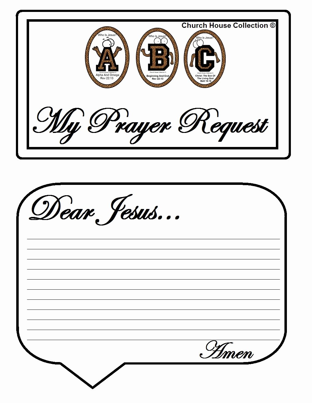 "Prayer Request Cards Template Luxury Church House Collection Blog Abc S ""who is Jesus "" White"