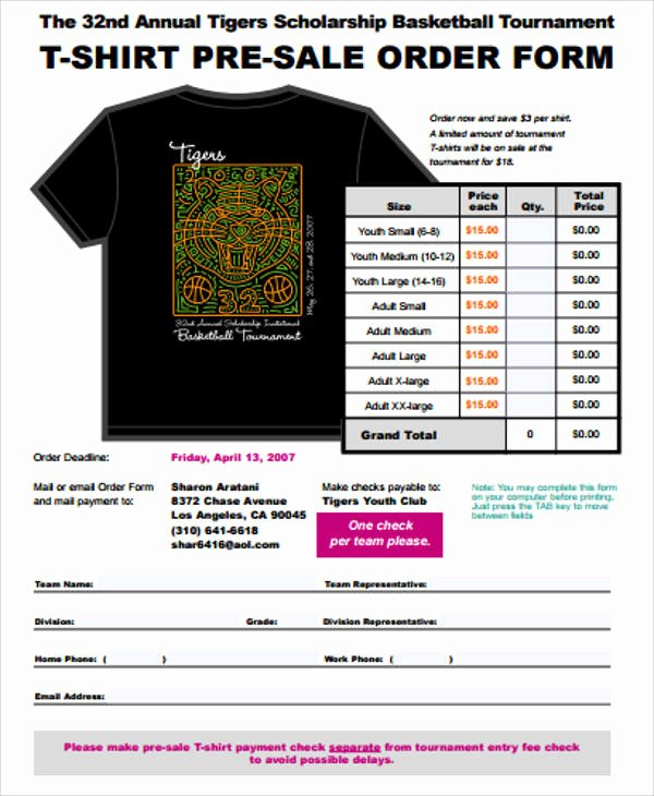 Pre order form Template Fresh Sample Sales order form 11 Examples In Word Pdf