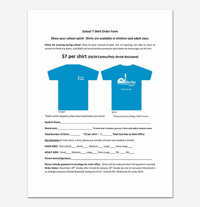 Pre order form Template Fresh T Shirt order form Template 17 Word Excel Pdf