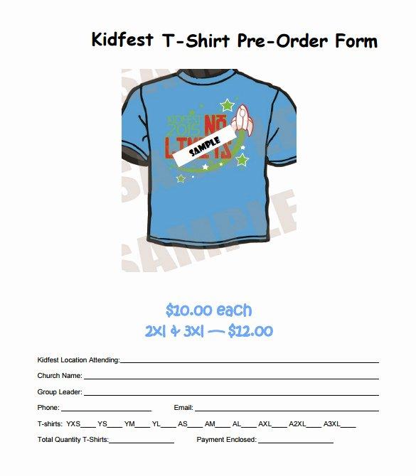 Pre order form Template Unique 26 T Shirt order form Templates Pdf Doc