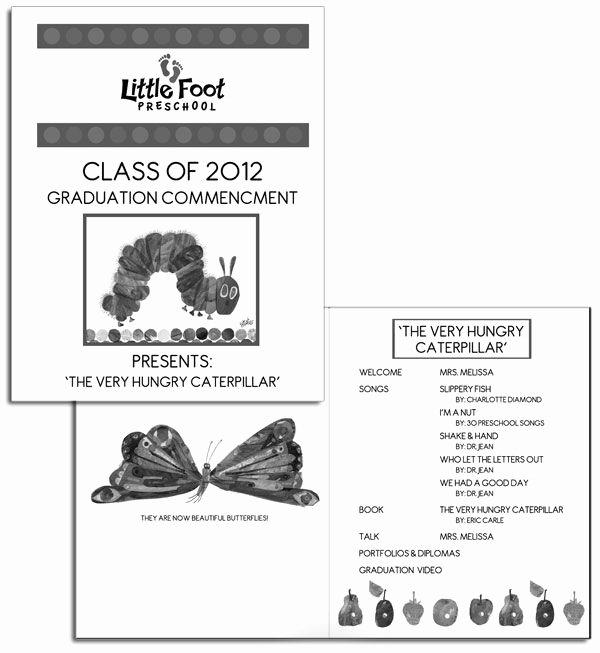 Preschool Graduation Program Template Elegant Preschool Graduation Program Sample Google Search