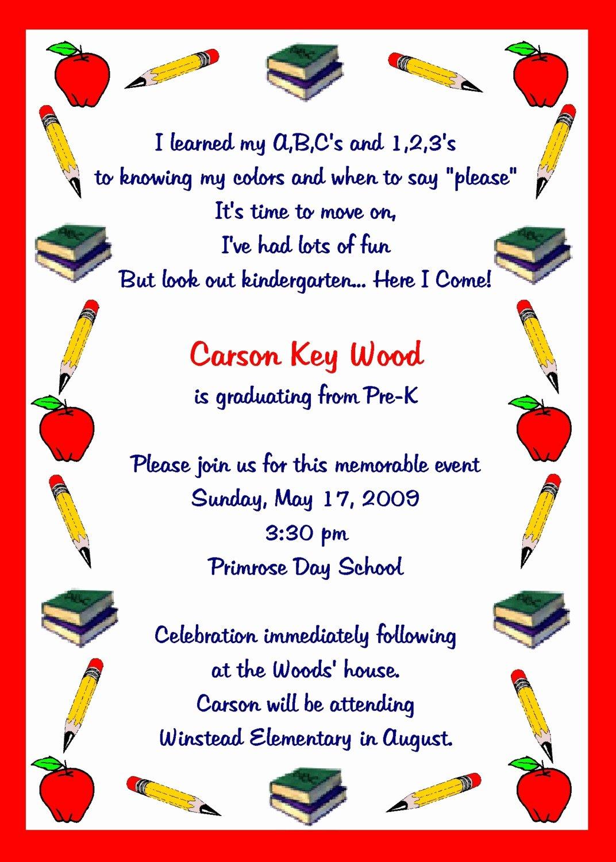 Preschool Graduation Program Template Inspirational Pre K Graduation Quotes Quotesgram