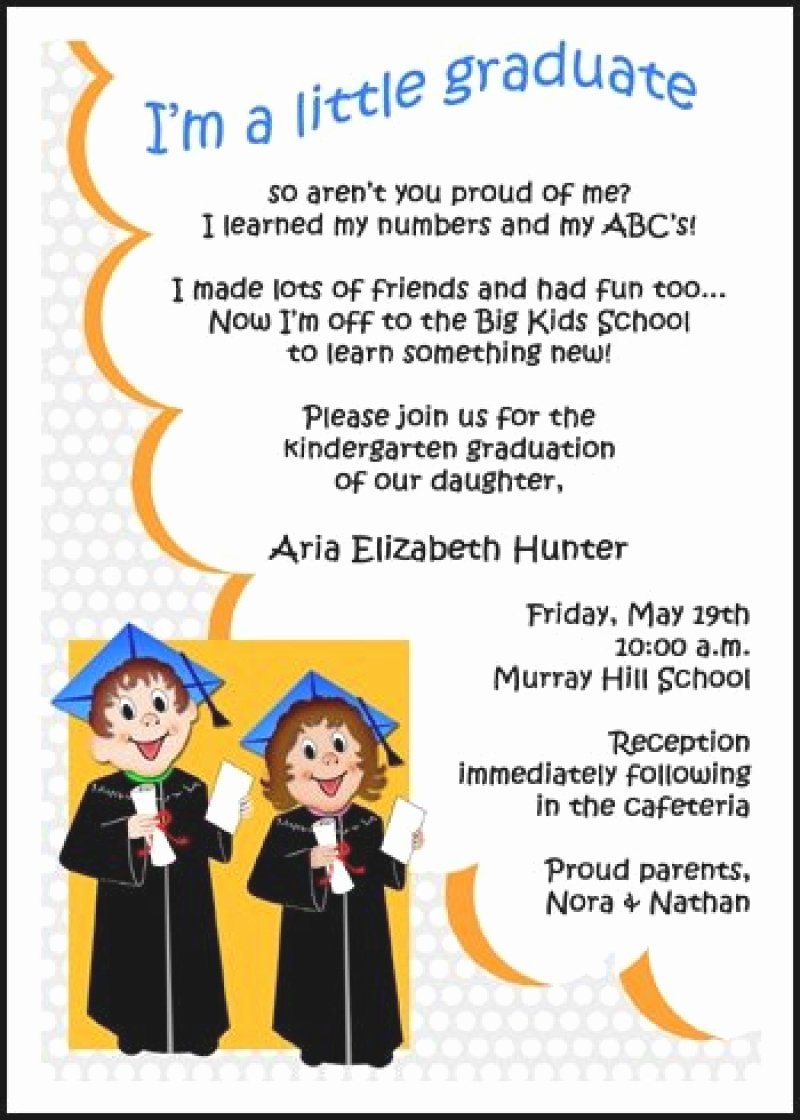Preschool Graduation Program Template Lovely Morning Memories Invitation for Kindergarten