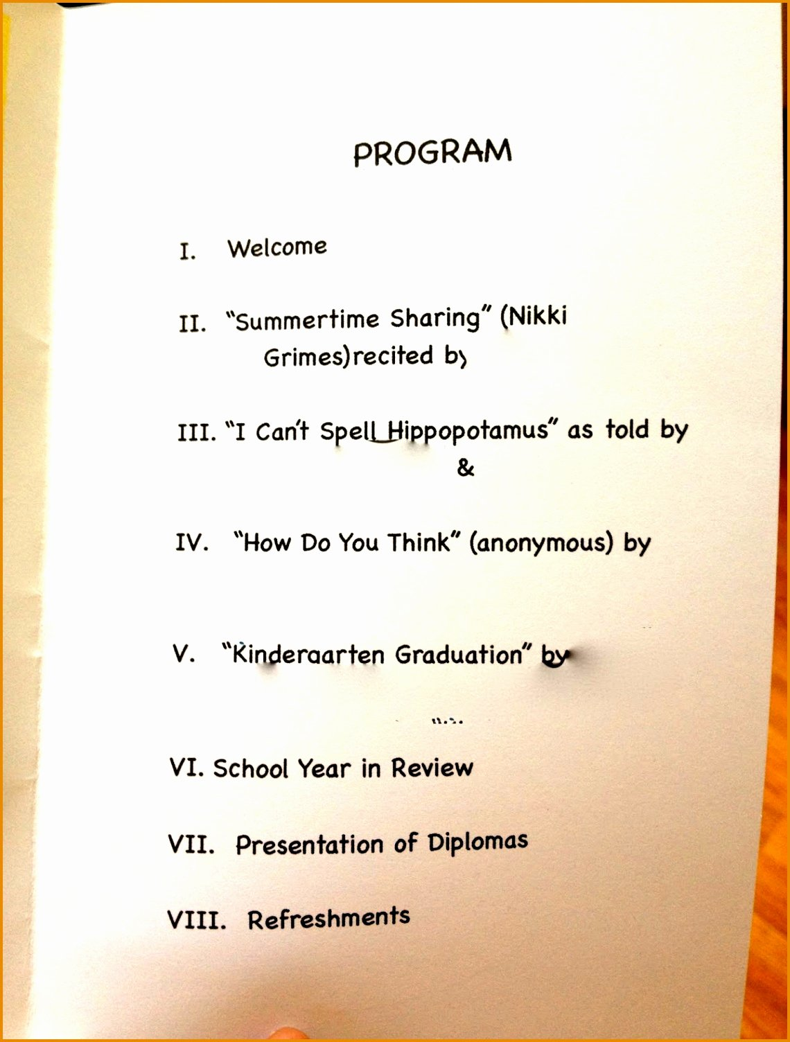 Preschool Graduation Program Template Lovely Preschool Graduation Programs Template Hashtag Bg