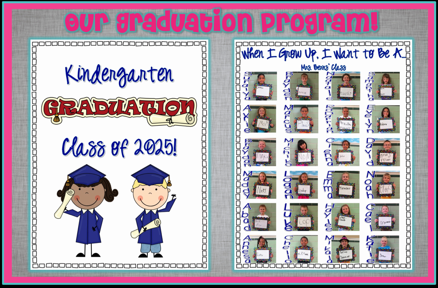 Preschool Graduation Program Template Unique Kindergarten Graduation