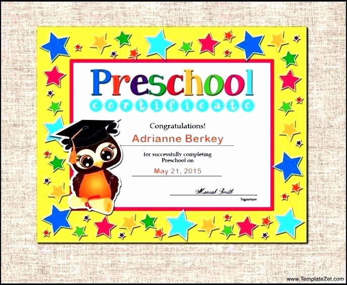 Preschool Graduation Programs Template Awesome Kindergarten Graduation Diplomas