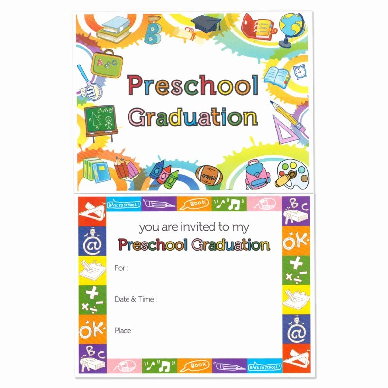 Preschool Graduation Programs Template Beautiful Preschool Graduation Announcement