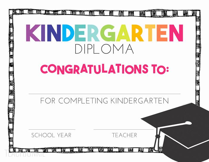 Preschool Graduation Programs Template Best Of Free Pre K and Kindergarten Graduation Diplomas Teach Junkie