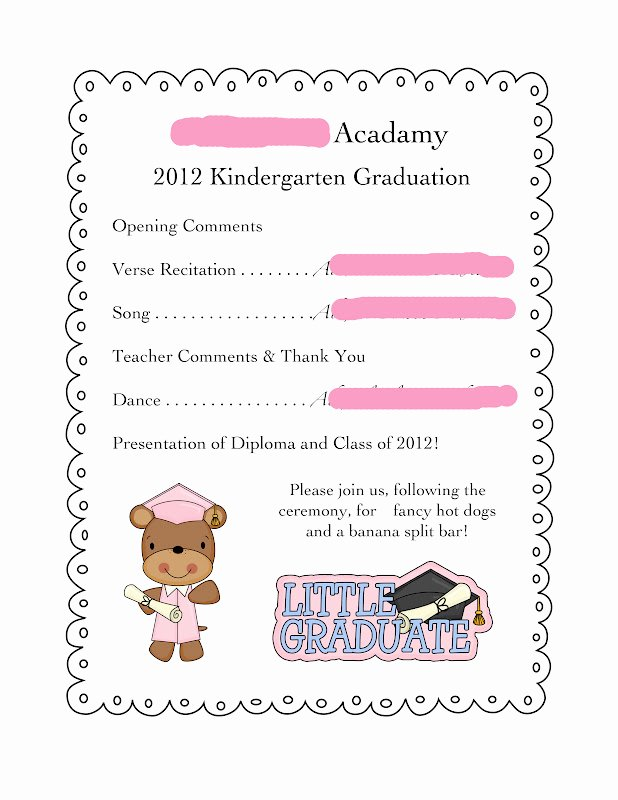 Preschool Graduation Programs Template Inspirational the Nature Of Grace Homeschool theme Of the Week