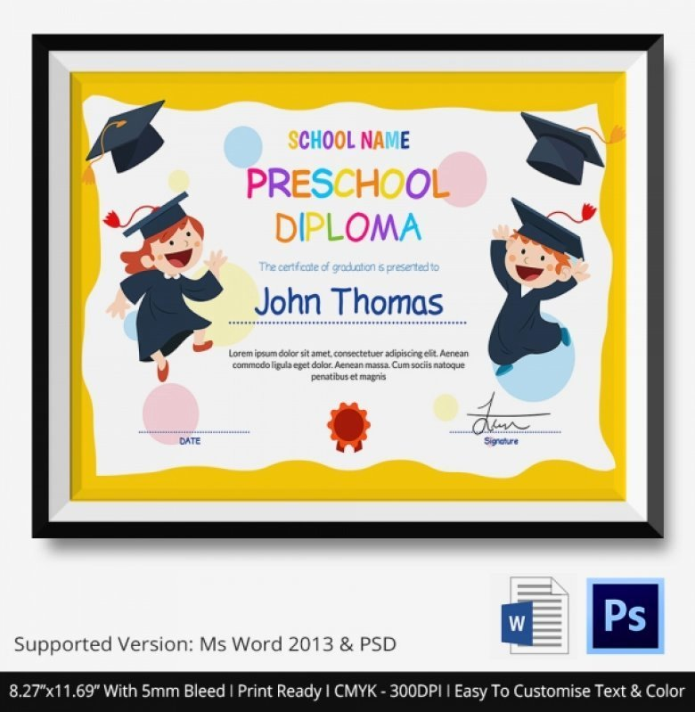 Preschool Graduation Programs Template Luxury Kindergarten Graduation Diplomas