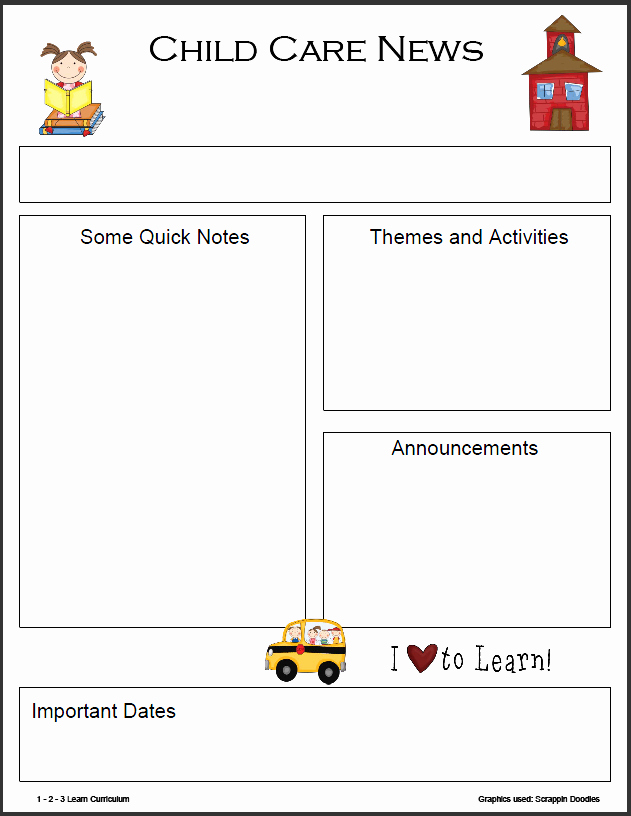 Preschool Newsletter Template Free Awesome 8 Best Of Monthly Newsletter Template Printables