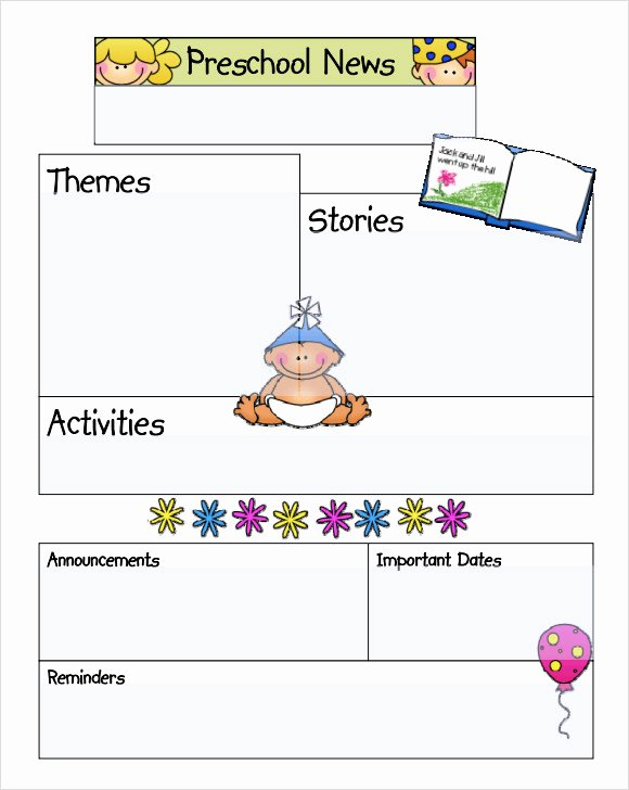 Preschool Newsletter Template Free Awesome Sample Kindergarten Newsletter Template 15 Free
