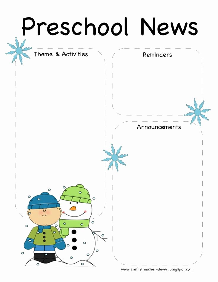 Preschool Newsletter Template Free Fresh Pinterest • the World's Catalog Of Ideas