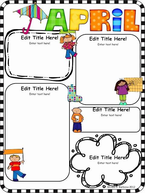 Preschool Newsletter Template Free Inspirational Kinder Alphabet the Kissing Hand and Editable Newsletters