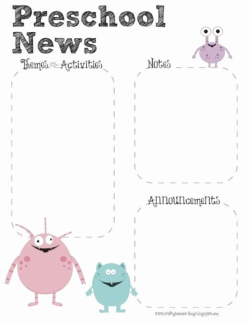 Preschool Newsletter Template Free Luxury 17 Best Ideas About Preschool Newsletter On Pinterest