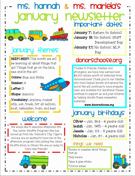 Preschool Newsletter Templates Free Beautiful Ideas for Municating with Parents