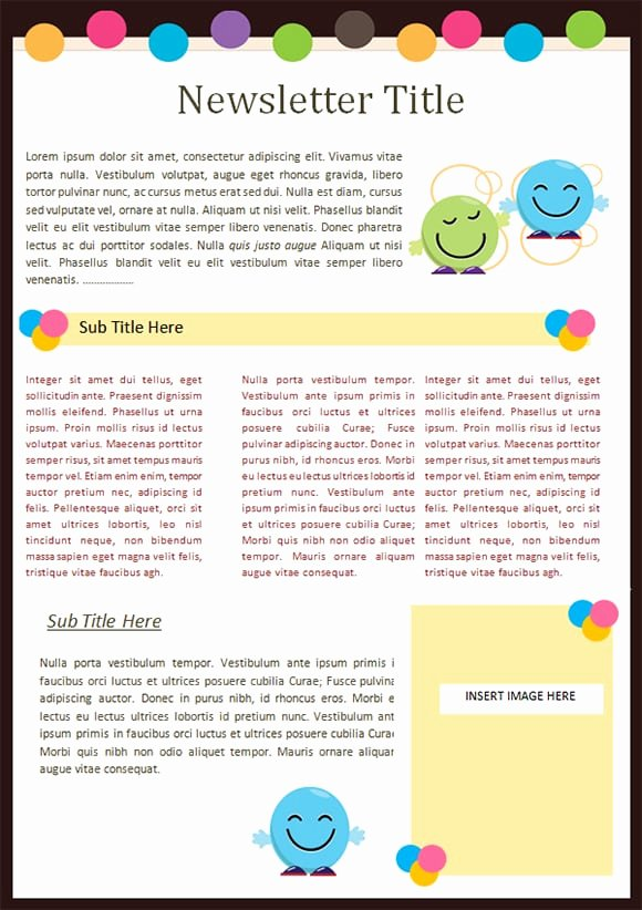 Preschool Newsletter Templates Free Beautiful Sample Templates Free formats Excel Word