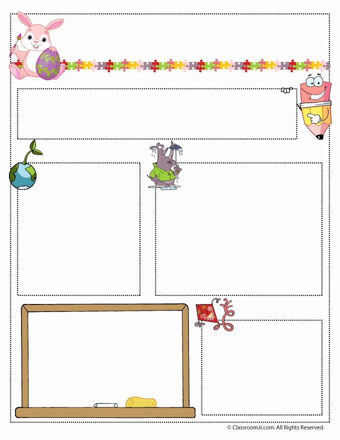 Preschool Newsletter Templates Free Best Of April Teacher Newsletter Template Classroom Jr