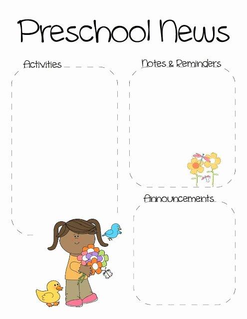 Preschool Newsletter Templates Free Best Of the Crafty Teacher Spring May Preschool Newsletter
